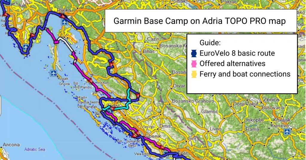 EuroVelo map