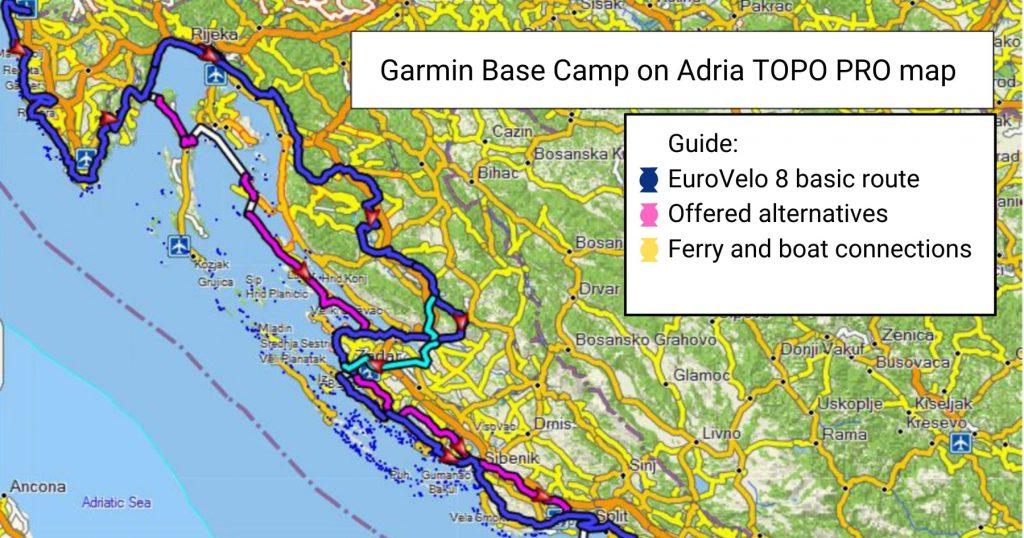 Euro Velo 8 map